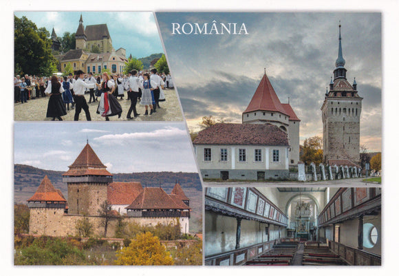 Market Corner: Bundle of 3 x LAD Romania Villages with fortified churches in Transylvania - UNESCO list - top quality approved by www.postcardsmarket.com specialists