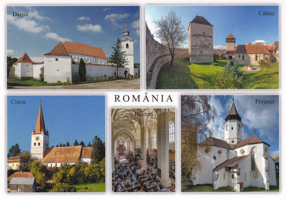 3 x LAD Romania - Villages with fortified churches in Transylvania (VL346-22) UNESCO list