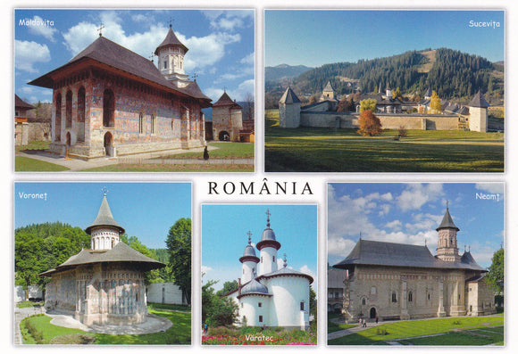 Market Corner: Bundle of 3 x LAD Romania - Moldavian monasteries - part of UNESCO list - top quality approved by www.postcardsmarket.com specialists