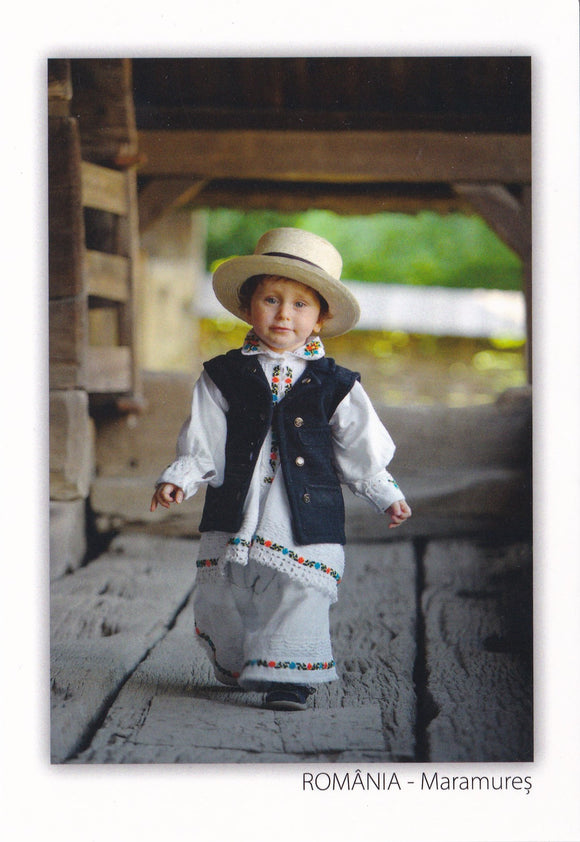 Market Corner: Bundle of 3 x LAD Romania - Child in traditional costume - Maramures - top quality approved by www.postcardsmarket.com specialists