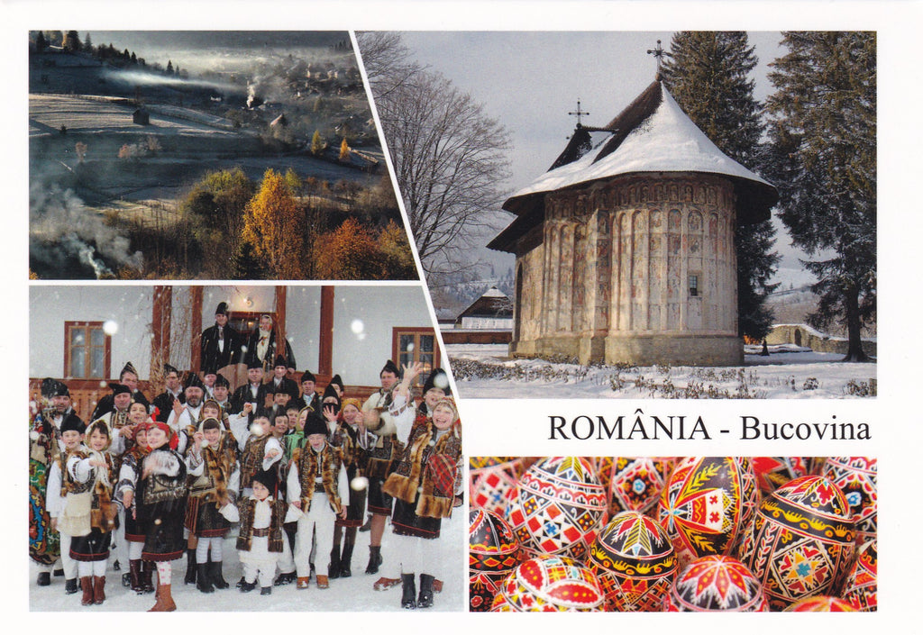 Market Corner: Bundle of 3 x LAD Romania - Bucovina multi-view - top quality approved by www.postcardsmarket.com specialists