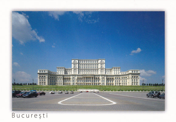 Market Corner: Bundle of 3 x LAD Romania - Bucharest - Palace of Parliament and Constitutiei Square - Postcards Market