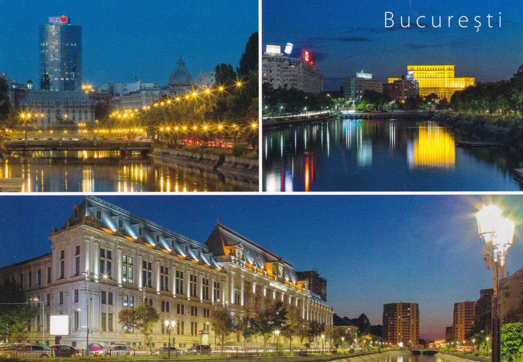 Market Corner: Bundle of 3 x LAD Romania - Bucharest - Dambovita river - Postcards Market