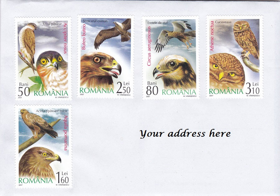 Stamps: Bird theme cover sent from Romania - top quality approved by www.postcardsmarket.com specialists