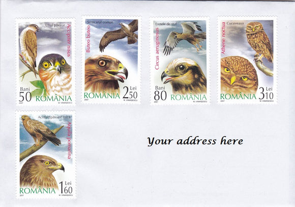 Stamps: Bird theme cover sent from Romania - Postcards Market