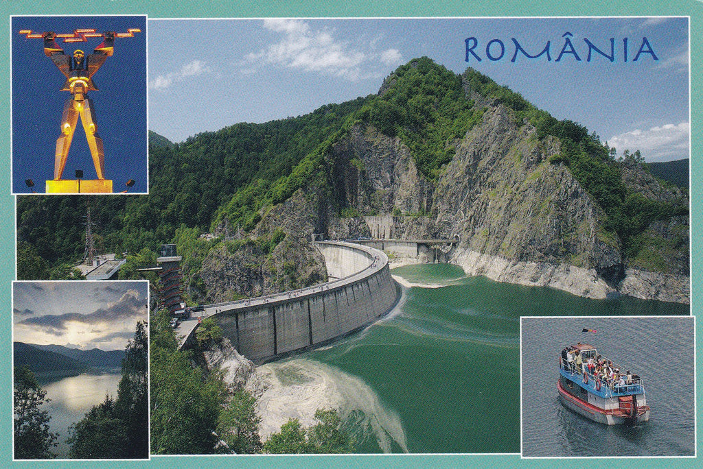 Market Corner: Bundle of 5 x LAD Romania - Vidraru Dam and reservoir - Arges - Postcards Market