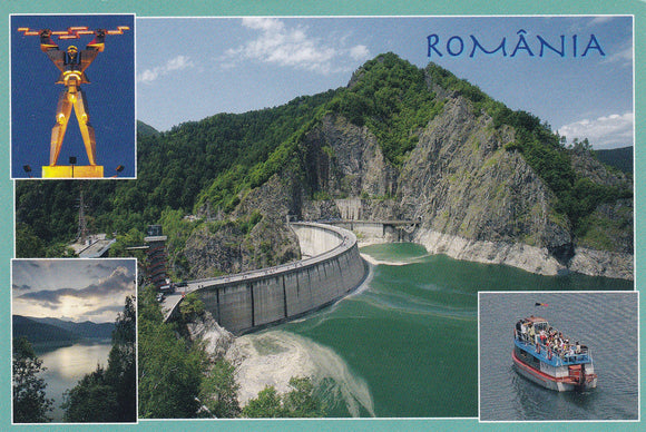 Market Corner: Bundle of 5 x LAD Romania - Vidraru Dam and reservoir - Arges - top quality approved by www.postcardsmarket.com specialists
