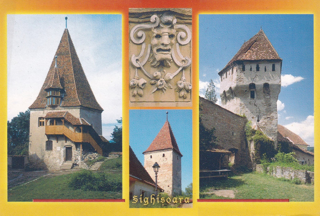 Market Corner: Bundle of 5 x LAD Romania - Sighisoara Towers - www.postcardsmarket.com