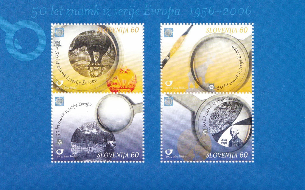 Stamps: Bundle of 10 Souvenir Sheets SLOVENIA 50th Anniversary of EUROPA Stamps - top quality approved by www.postcardsmarket.com specialists