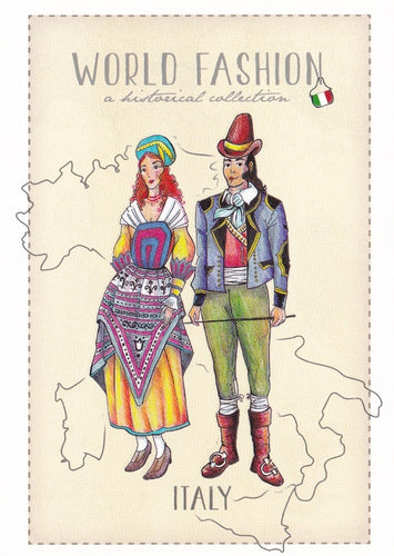 World Fashion Historical Collection - Italy (bundle x 5 pieces) - top quality approved by Postcards Market specialists