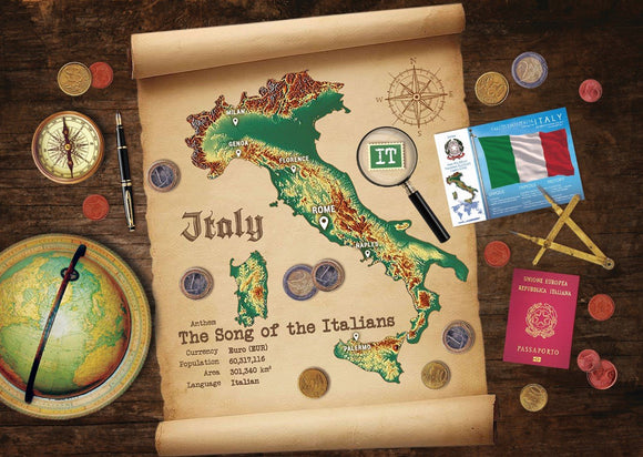 Italy Map Postcard World Explorer PWE - Postcards Market