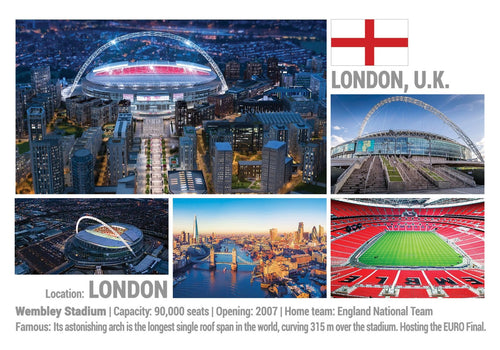 Photo: European Football Stadiums - London - England, United Kigdom (x 5 pcs) - top quality approved by www.postcardsmarket.com specialists