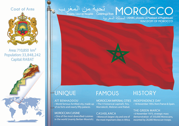 MOROCCO - FW - top quality approved by www.postcardsmarket.com specialists