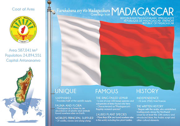 AFRICA | MADAGASCAR - FW (country No. 51) - top quality approved by www.postcardsmarket.com specialists