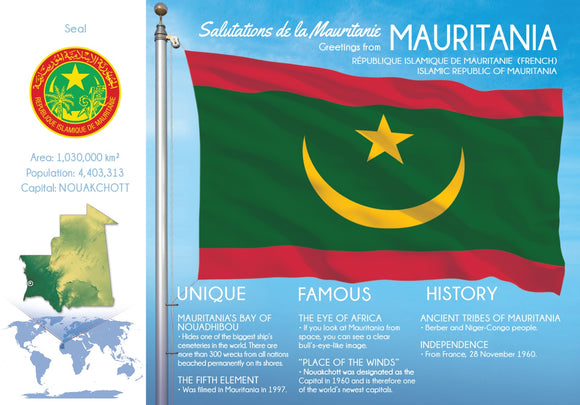 AFRICA | Mauritania - FW (country No. 125) - top quality approved by www.postcardsmarket.com specialists