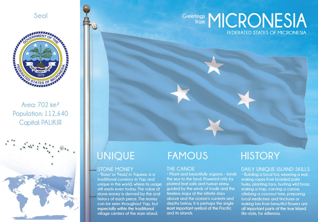Oceania | Micronesia - FW (country No. 179) - top quality approved by www.postcardsmarket.com specialists