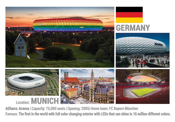 Photo: European Football Stadiums - Munich (x 5 pcs) - top quality approved by www.postcardsmarket.com specialists