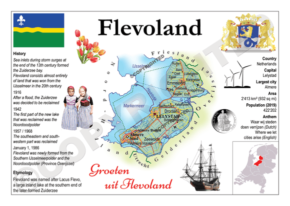 The Netherlands Provinces - Flevoland _ MOTW_NL_002 - Postcards Market
