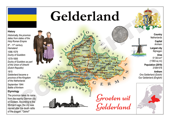 The Netherlands Provinces - Gelderland _ MOTW_NL_004 - Postcards Market