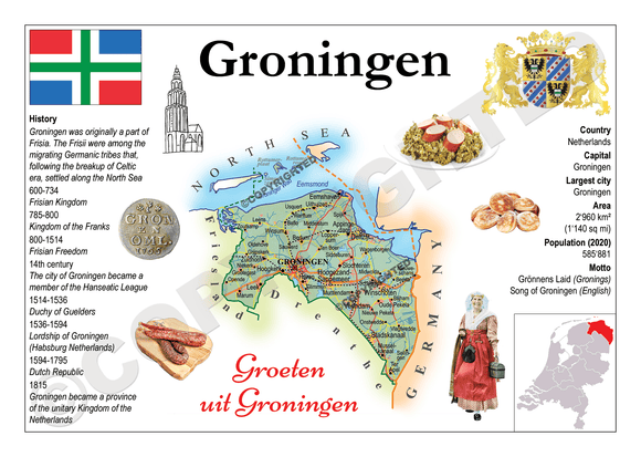 The Netherlands Provinces - Groningen _ MOTW_NL_005 - Postcards Market