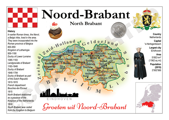 The Netherlands Provinces - North Brabant _ MOTW_NL_007 - Postcards Market