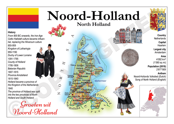 The Netherlands Provinces - North Holland _ MOTW_NL_008 - Postcards Market
