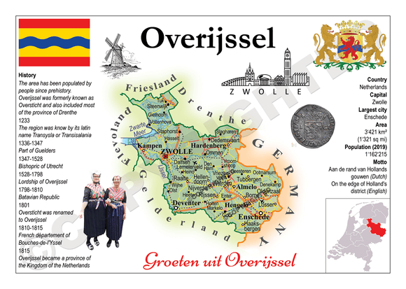 The Netherlands Provinces - Overijssel _ MOTW_NL_009 - Postcards Market