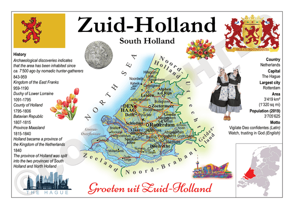 Europe | Netherlands Provinces - Zuid-Holland (South Holland) _ MOTW_NL_010 x 3pieces - top quality approved by www.postcardsmarket.com specialists