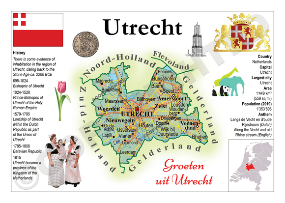 The Netherlands Provinces - Utrecht _ MOTW_NL_011 - Postcards Market