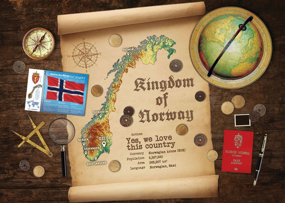 Norway Map Postcard World Explorer PWE (Buy 10, Receive10!) - Postcards Market