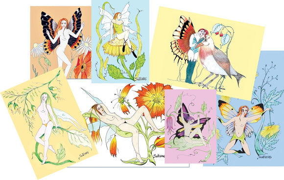 Drawings: 7 Random Fairies - Postcards Market