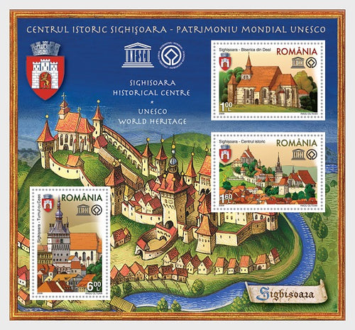 Collectibles Stamps | Romania Stamps 2009 Sighisoara Historical Center - UNESCO place - Souvenir Sheet - top quality Stamps approved by www.postcardsmarket.com specialists