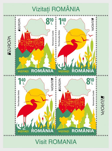 Collectibles Stamps | Romania Stamps 2012 EUROPA Stamps Visit Romania - Block of 4 - top quality Stamps approved by www.postcardsmarket.com specialists