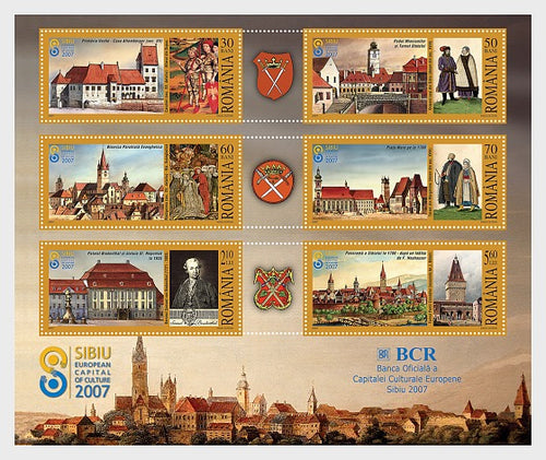 Collectibles Stamps | Romania Stamps 2007 Sibiu European Capital of Culture - Souvenir Sheet - top quality Stamps approved by www.postcardsmarket.com specialists