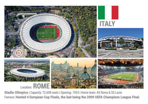 Photo: European Football Stadiums - Rome (x 5 pcs) - top quality approved by www.postcardsmarket.com specialists
