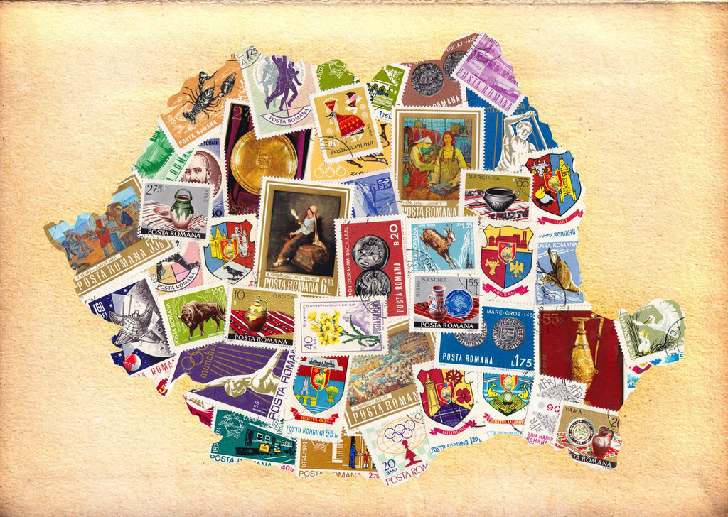 Photo: Romania - stamp collage (bundle x 5 pieces) - top quality approved by www.postcardsmarket.com specialists