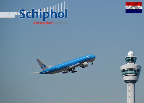 Photo: Schipol Amsterdam - Take-off (bundle x 5 pieces) - top quality approved by www.postcardsmarket.com specialists