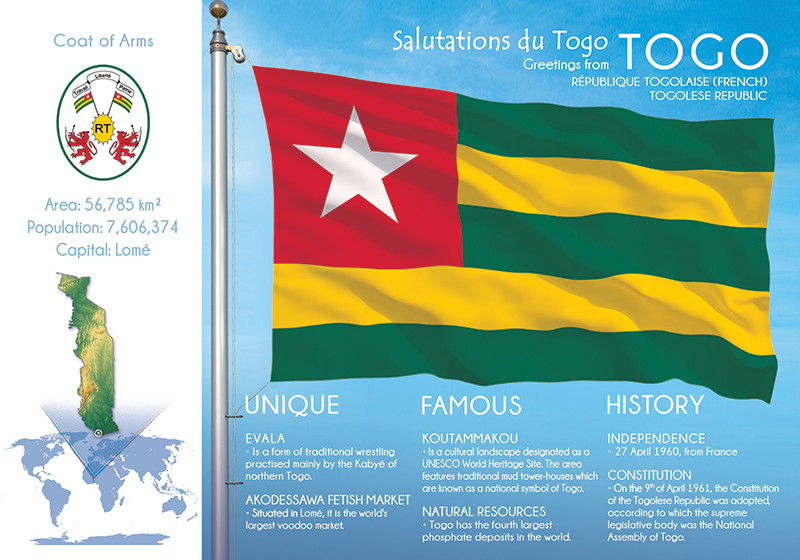 AFRICA | TOGO - FW (country No. 101) - top quality approved by www.postcardsmarket.com specialists