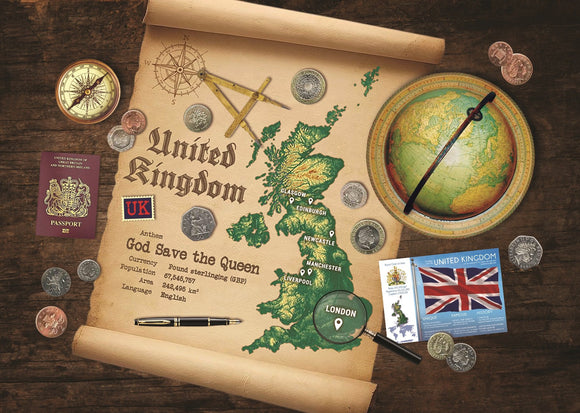 United Kingdom Map Postcard World Explorer PWE - Postcards Market