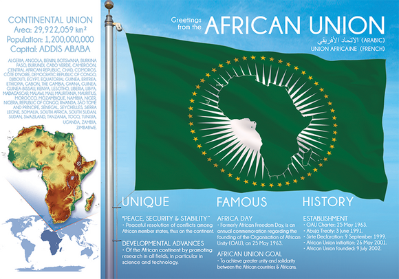 AFRICAN UNION - FW - top quality approved by www.postcardsmarket.com specialists