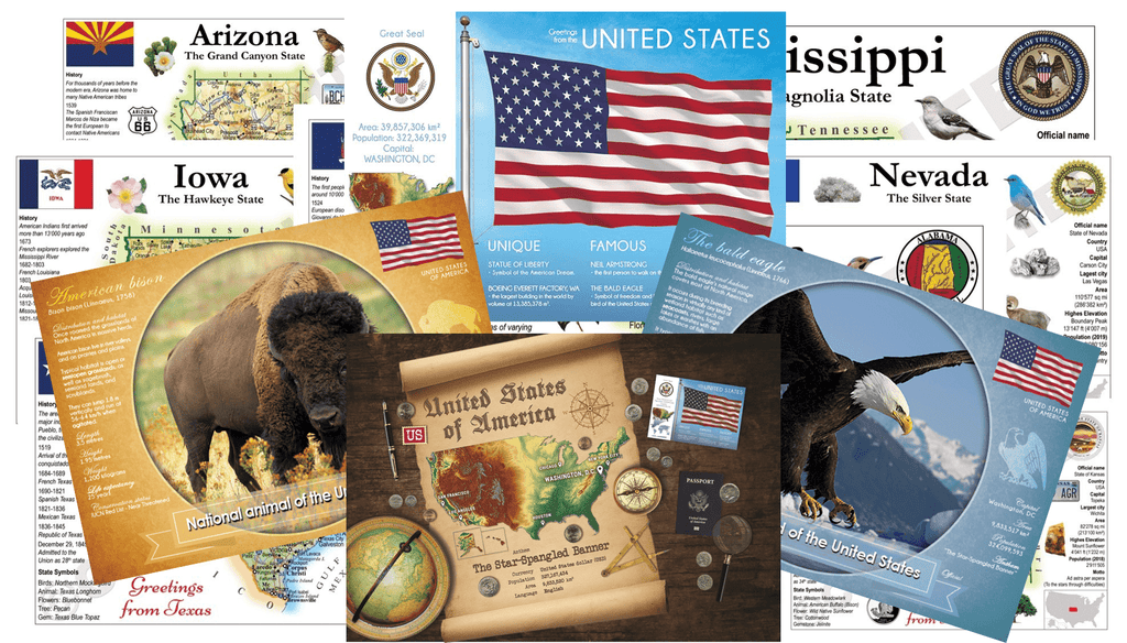 Collector Pack United States cards - total 96 postcards! - Postcards Market