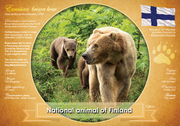 National Animal of Finland - www.postcardsmarket.com