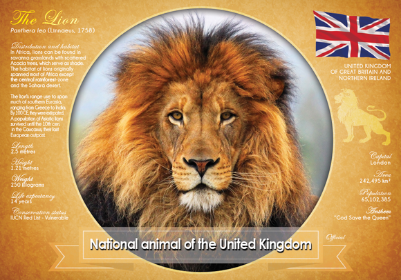 National Animal of the United Kingdom - Postcards Market