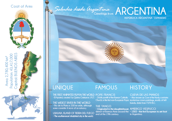 South America | ARGENTINA - FW - top quality approved by www.postcardsmarket.com specialists