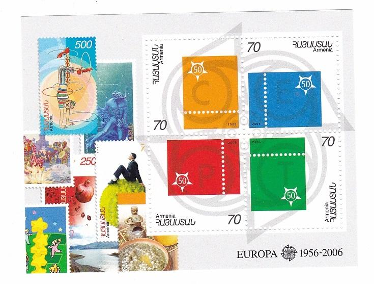 *Stamps | Armenia 2005 50th Anniversary of the first Europa Issue - Souvenir Sheet - top quality Stamps approved by www.postcardsmarket.com specialists