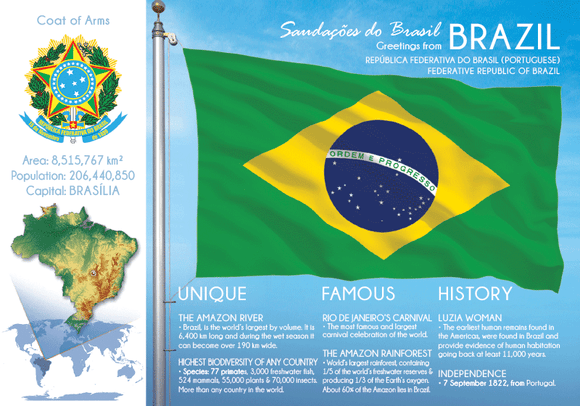 South America | BRAZIL - FW (country No. 6) - top quality approved by www.postcardsmarket.com specialists