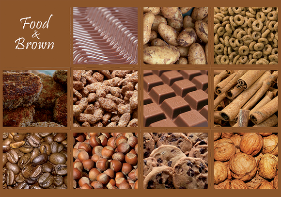 Photo: Food & Brown (bundle x 5 pieces) - top quality approved by www.postcardsmarket.com specialists