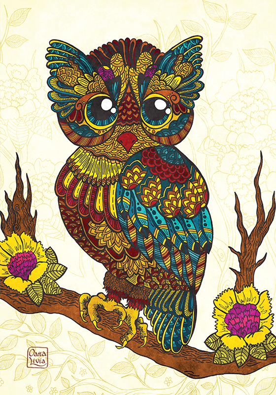 Colours: Baby owl - Postcards Market