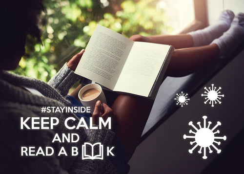 Photo #stayinside - read a book! - top quality approved by www.postcardsmarket.com specialists