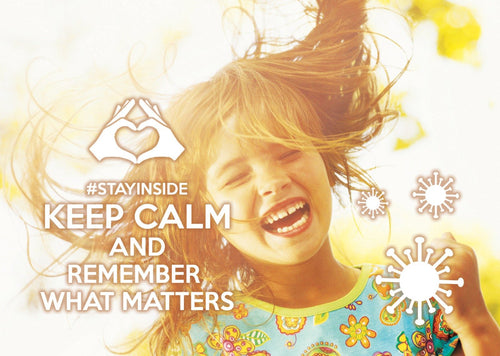 Photo #stayinside - remember what matters (bundle x 5 pieces) - top quality approved by www.postcardsmarket.com specialists